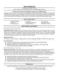 Maintence Resume Cover Letter Sample Industrial Technology Resume Sample Industrial