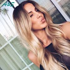 dark roots blonde hair soft hairstyles ali sister curly blonde ombre wig cosplay anime
