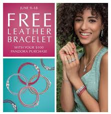 free leather bracelet images Leather charm bracelet free from pandora jpg