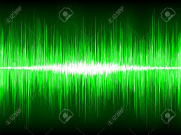 Sound Wave by Sound Waves Oscillating On Black Background Royalty Free Cliparts