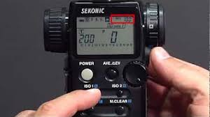 film camera light meter sekonic l 758 light meter exposure profile youtube photography