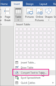 convert the table to a normal range convert text to a table or a table to text office support