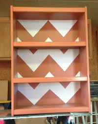 diy chevron stripe bookcase wilker do u0027s