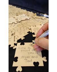 graduation guest book bargains on guest book wood puzzle wedding baby shower graduation