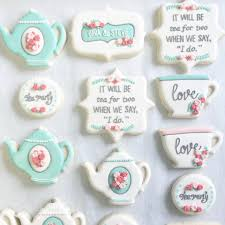 bridal tea party favors bridal tea party cookies despedida nea tea