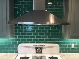 green tile backsplash kitchen traditional green subway tile new home design