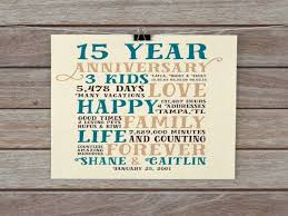 15 year anniversary ideas 15 year wedding anniversary gift for husband gift ideas