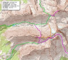 Southwest Route Map by 14ers Com U2022 Wilson Peak Route Description Southwest Ridge