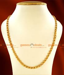 gold plated chain necklace images Ckmn23 one gm chidambaram gold plated jewellery light weight kumil jpg