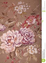 vintage brown wallpaper with floral victorian pattern stock photo
