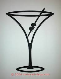 Wine Glass Wall Decor Martini Glass Restaurant Bar Modern Wall Art Decor