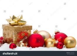 decorative ornaments on snow stock photo 120004420