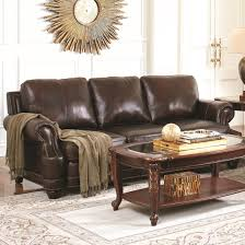 crawford traditional 100 leather sofa with scoop arms and