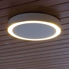 amigo led medium indoor outdoor ceiling light by santa cole