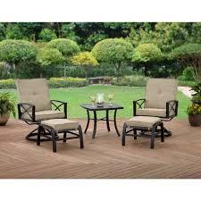 outdoor swivel chairs patio conversation sets rocker ottoman 5