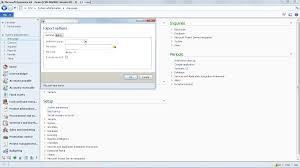 company export and import function in microsoft dynamics ax 2012