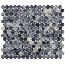 shop elida ceramica gelato penny round mosaic glass wall tile