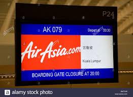 check in desk sign airasia check in desk sign chek lap kok airport stock photo