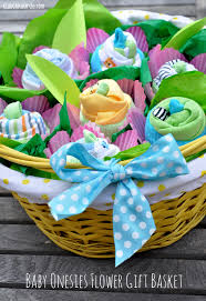 cool baby shower gifts how to make a baby onesie flower gift basket