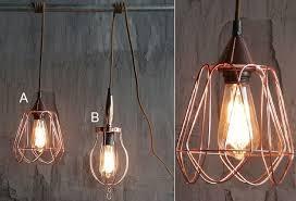 copper farmhouse pendant light copper pendant light industrial pendant lighting cage pendant