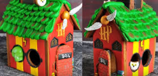 how to build a harry potter inspired gingerbread house