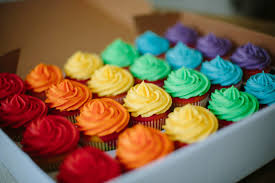 professional cakes paper cakes pride rainbow sponge cupcakes