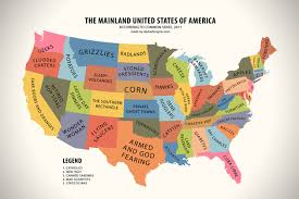 usa map just states map of the united states according to common sense hiconsumption