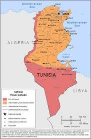 tunisia physical map smartraveller gov au tunisia