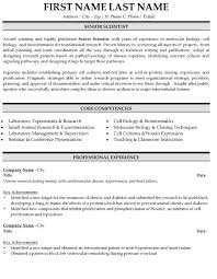 Biology Resume Examples by Scientist Resume Sample U0026 Template