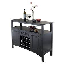 Small Kitchen Buffet Cabinet by Amazon Com Winsome Wood Jasper Storage Buffet Buffets U0026 Sideboards