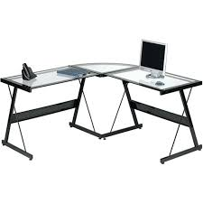 Glass Corner Desk Corner Glass Desk Shippies Co