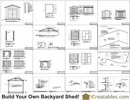 Free Wood Shed Plans 10x12 by 10x12 Large Shed Plans