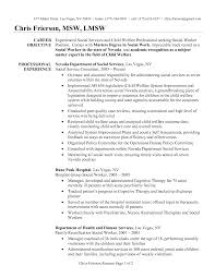 Sample Resume Objectives For Nurse Educator by Social Work Resume Examples Social Worker Resume Sample