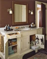 Glittering Bath Cabinet Organizer With Pull Out Wire Baskets In