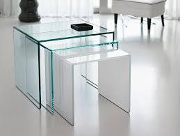 Glass Bedside Table by Nella Vetrina Tonelli Trio Modern Italian Designer Bedside Table