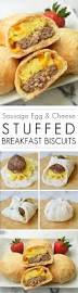 egg recipes for dinner stuffed breakfast biscuits with sausage egg and cheese recipe