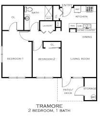 2 Bed 2 Bath House Plans Floor Plans Tramore Senior Apartments
