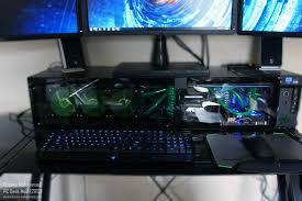 Desk Computer Case by Watercooled Pc Desk Case Mod Modded Fry U0027s L Shaped Desk