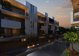 3d night view residential house exterior design kcl solutions