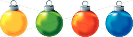 four colorful ornaments clipart traditional