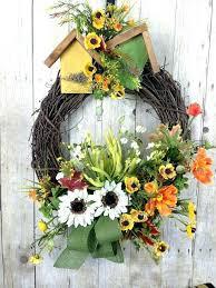 outdoor wreaths for front door outdoor fall wreaths front