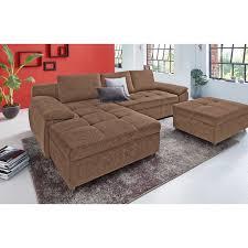 canap d angle r versible canapé d angle réversible en tissu marron autres mobilier
