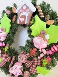 fofuchas dolls gingerbread christmas wreath