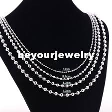 stainless ball chain necklace images Width 1 2mm 1 5mm 2mm 2 4mm 3 2mm 4mm 5mm 6mm 8mm 10mm stainless jpg