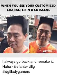 Customized Memes - when you see your customized character in a cutscene gaming i always