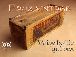 wine bottle gift box rustic wine bottle gift box woodworking for mere mortals