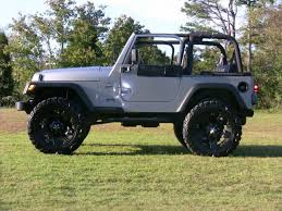 1997 jeep wrangler wheels silver jeep with black rockstars jeepforum com