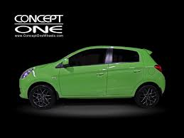 mitsubishi mirage 2015 black concept one wheels innovative technology