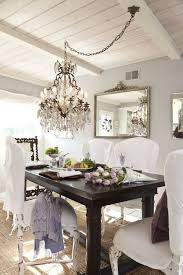 classy dining room crystal chandeliers transitional linear