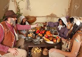Thanksgiving Pilgrims And Indians Indian Thanksgiving Stock Photos Royalty Free Indian Thanksgiving